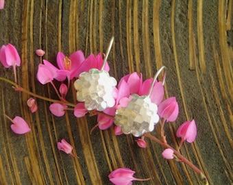 Karen Silver Earrings - The Flower Disc