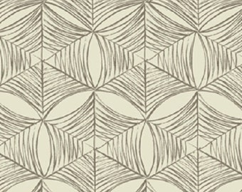 "Fabric 1 Yard Home Decorating Curious Nature SPIDER WEB Bone Tan David Butler 54"" WIDE"