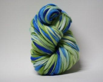 Thick and Thin Yarn Handspun Wool Slub  Hand Dyed tts(tm) Merino Bulky Self Striping xxLRH 1506c