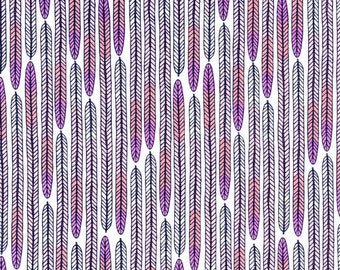 Biology Plumes in Lavender, Sarah Watson, 100% GOTS-Certified Organic Cotton, Cloud9 Fabrics, 125710