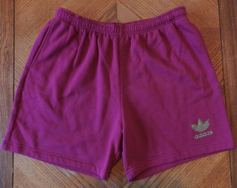 vintage 80s 90s adidas Shorts Neon sweats basketball hip hop Mens XL USA made retro 50/50