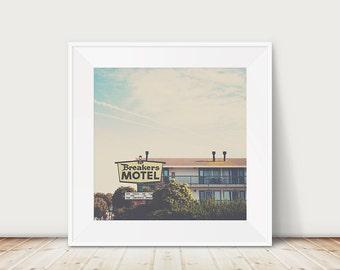 travel photograph california photograph morro bay photograph breakers motel photograph architecture photograph retro decor