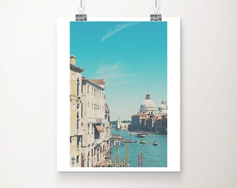Venice photograph Venice print Grand Canal photograph travel photography Venice decor Italy photograph church photograph