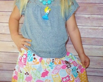 Michael Miller Forest Life    Skirt ( 18 mos, 24 mos, 2T, 3T, 4T, 5, 6, 7)