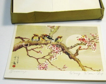 Vintage Asian Art Note Cards: Chang Shu-Chi and Wong Wan-NG Watercolor Note Cards, Amazing Chinese Art