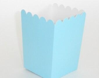 Light Blue Popcorn Boxes 12 ct. Treat Boxes / Favor Boxes / Candy Boxes /  Popcorn Boxes / Wedding Favors / Birthday Favors