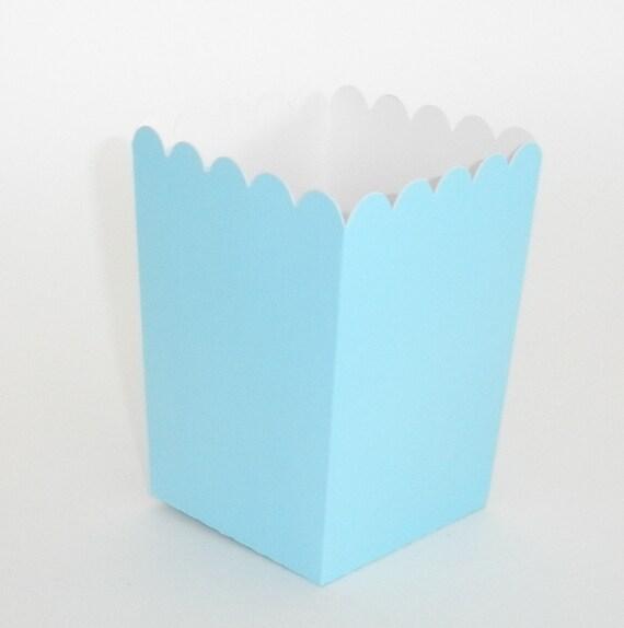 Blue Popcorn Favor Boxes : Light blue popcorn boxes ct treat by
