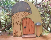 Wood Toy Habitat BLUE RUSULLA MUSHROOM-Play Set-Imaginative- Pretend- Waldorf Inspired