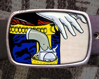 Ready Draw Belt Buckle, Vintage Inspired, Pop Art 521