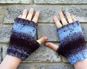 Knit Fingerless Gloves Racer Back Gloves - Texting Gloves - Photographers Gloves - Unisex Outerwear - Fashion Accessories