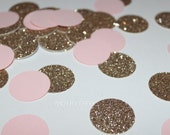 Baby Pink Gold Confetti 1st Birthday Party Baby Shower Pink and gold birthday Wedding Embellishments Tags Decorations Cards Set of 200