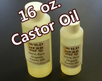CASTOR OIL, Organic 16 oz size - Pure, Natural, Thick, Fresh!