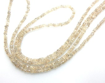 Natural Champagne Zircon from the earth Rough Roundelle Beads Size  3mm Sold 14'' / Strands AAA Quality 100% natural
