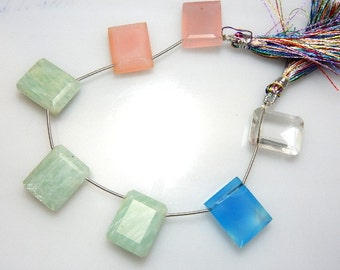 Mix Quartz Briolette Rectangle Beads  GemstoneAA Quality 16x20 MM Wholesale Price