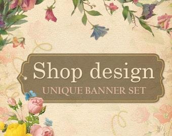 Etsy Banner, Etsy Shop Design, Custom Business Card, Sold Once, Etsy Shop Graphics, Custom Banner