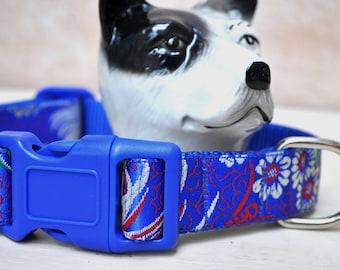 Dog Collar - Oriental Blue -  50% Profits to Dog Rescue