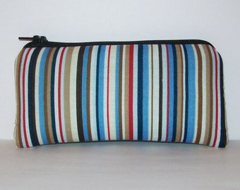 "Padded Pipe Pouch, Pipe Case, Pipe Bag, Beach Stripes Bag, Padded Pouch, Small Pouch, Striped Pouch, Stoner Gift, Pipe Pouch - 5.5"" SMALL"