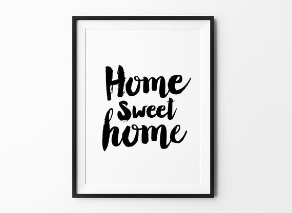 Home sweet home wall decor wall art poster typography - Home sweet home decorative accessories ...