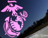 EGA Vinyl Decal, USMC, Marines - Pick your color