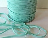 "1/8"" Skinny Elastic - Aqua FOE skinny Fold Over Elastic P314 -  FOE 1/8"" inch Baby Headbands - 5 or 10 yards Skinny Elastic 4mm"