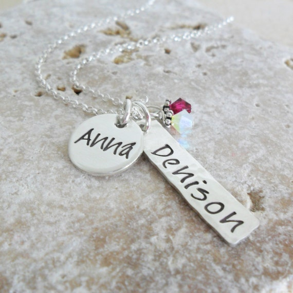 College Necklace - Back to School Necklace - Personalized University Necklace - Name Necklace - Sterling Silver Necklace - Spirit Jewelry