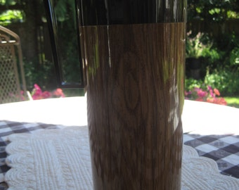 Aladdin Beverage Butler, Thermos, Faux Wood Pattern, Vacuum Insulated Pitcher