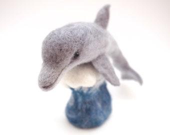 Needle Felted Animal, Dolphin.