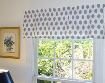 Valance gray yellow charcoal gray mocha almost white for Grey bedroom window treatments