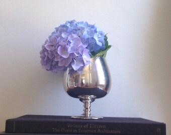 Silver goblet vase