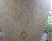 Chalcedony circle necklace -Reserved for Ivy