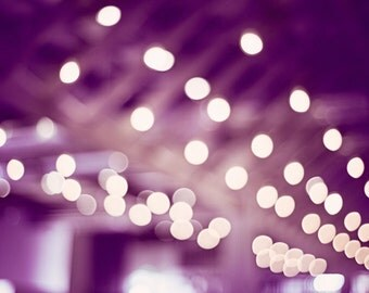 "Purple Abstract Photography, plum bokeh lights photo dark purple sparkle wall art modern sparkly print fine art picture, ""My Eyes Twinkle"""
