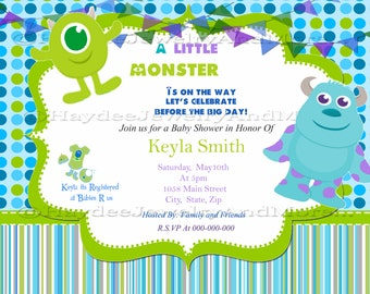 Monster inc Baby shower invitation