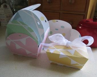 Brownie Favor Box in Pastels Set of 12