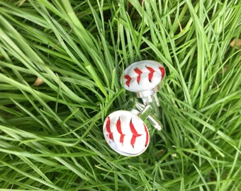 Played game ball MLB baseball Philadelphia Philies accessory sports fanatic hand crafted cuff links