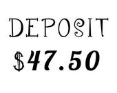 Deposit for Custom Character Logo