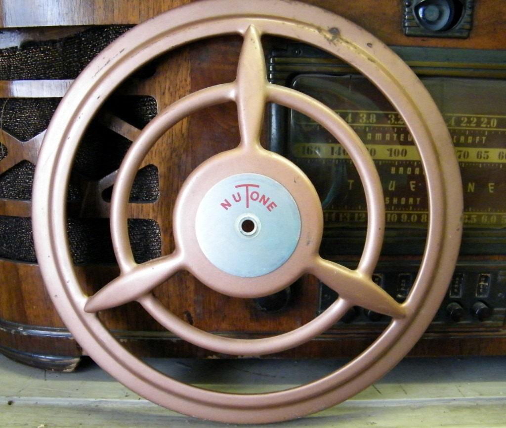 Vintage Retro Utility Exhaust Fan Vent Cover Repurpose Piece