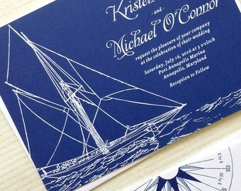 Sailboat Wedding Invitations for your Boat Wedding