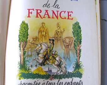 ENORMOUS Book History of FRANCE - French Antique Beautiful History Books Of France  -  French Children Book