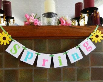 Spring Decorations - Spring Banner - SPRING garland -Easter Garland -Spring /Easter Decor -Spring garland - Springtime Decorations