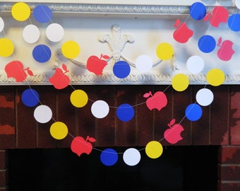 Snow White Birthday Decorations - 10 foot Snow White Paper Garland - Girls birthday Decor - Baby Shower Decor- your color choice