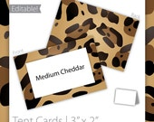 Animal Print Tent Cards (editable) - Cheetah ~ Cheetah Tent Cards, Jungle Tent Cards, Jungle Birthday, Animal Tent Cards - INSTANT Download