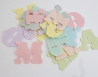Alphabet felt letters die cut felt letters pre cut felt shapes die cut letters