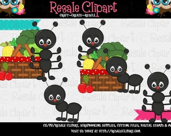 Picnic Ant Cuties 1 Clipart (Digital Download)