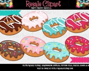 Donuts 1 Clipart (Digital Zip Download)