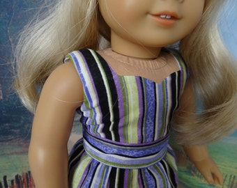 Peplum top with capris, shorts and sneakers for American Girl or similar 18 inch doll.
