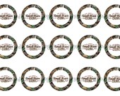 """1"""" Small Town Girl Camo Mossy Oak Bottle Cap Image Sheets Party Favors Cupcake Topper Magnet Stickers Printables Bottlecap Instant Download."""