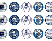 "1"" KC Royals Kansas City Baseball Bottle Cap Image Sheets Party Favors Cupcake Topper Magnet Stickers Printables Bottlecap Instant Download."