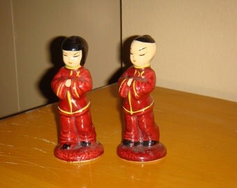 Vintage Asian Boy and Girl Figurines