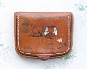 Vintage Leather Wallet - Classic Coin Purse