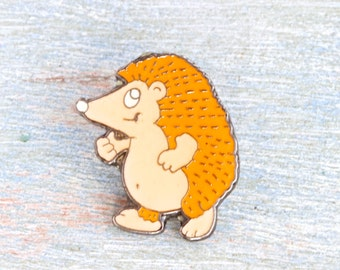 Hedgehog Lapel pin - Little Wildlife Badge - Cute Animal Pin - Forest Creature